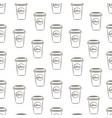 seamless pattern with hand drawn sketchy coffee vector image vector image