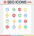 SEO Google like icons set volume 1 Set 2 vector image vector image