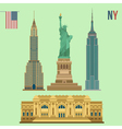 set new york famous buildings vector image