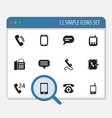 set of 12 editable device icons includes symbols vector image vector image