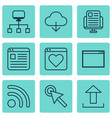 set of 9 online connection icons includes website vector image
