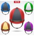 Set of Classic Jockey helmets vector image vector image