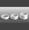 set white scotch tape rolls realistic vector image vector image