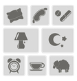 set with sleeping icons vector image
