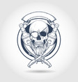 sketch pirate skull vector image