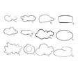 speak cloud vector image