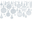 square anner row hanging christmas baubles vector image