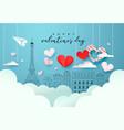 valentines day paris doodle paper cut heart card