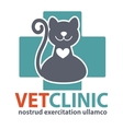 Veterinary Clinic logo with the image of pet vector image vector image