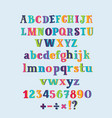 vintage alphabet cute hand drawn letters vector image
