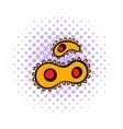 Virus icon comics style vector image vector image