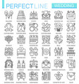 wedding outline concept symbols perfect thin line vector image vector image