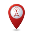 wi fi icon red map pointer vector image vector image