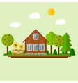 Wooden Eco House vector image vector image