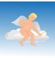Cute angel on a cloud vector image