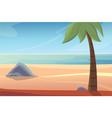 beautiful beach lanscape vector image