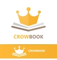 book and crown logo concept vector image