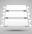 Infographic 3D white ribbons vector image
