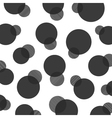 292black polka dot pattern vector image vector image