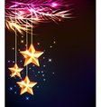 Abstract Christmas background with shining stars vector image