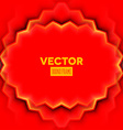 Abstract frame with red leaves vector image vector image
