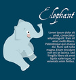 an isolated character elephant vector image vector image
