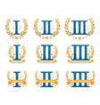 Awards emblems set vector image