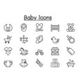 baby icon in thin line style vector image