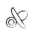 baby pacifier icon vector image vector image