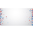 Banner with confetti vector image vector image