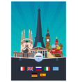 big collection of travel posters to the europe vector image vector image