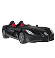 black sport car vector image