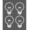 bulbs vector image vector image