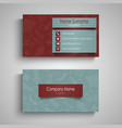 business card with different red blue arrows vector image