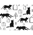 cats seamless pattern vector image