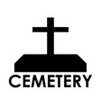 cemetery icon vector image vector image