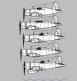 chance vought f4u corsair vector image vector image