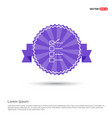check list ok icon - purple ribbon banner vector image vector image