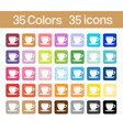 coffee cup printable icons vector image vector image