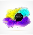 colorful watercolor stain background with network vector image vector image