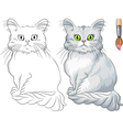 Coloring Book of funny cat Tiffany vector image vector image