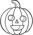 coloring page and doodle sketch with pumpkin for vector image vector image