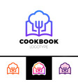 Cook book logo cooking learn logotype