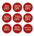 discount stickers set vector image
