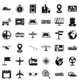 download icons set simple style vector image vector image