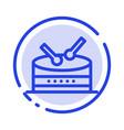 drum celebration blue dotted line line icon vector image vector image