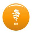 elm tree icon orange vector image vector image