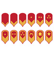 Epaulets military ranks and insignia vector image