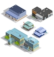 Factory Warehouse Isometric Images Set vector image vector image