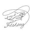 graphic fishing vector image vector image